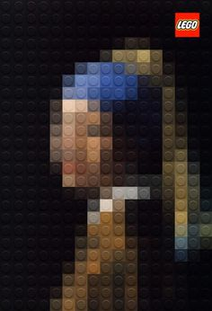 """Girl with a pearl earring"" LEGO STYLE!"