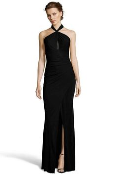 GEDDY Twist Neck Gown With Gathering from Jay Godfrey