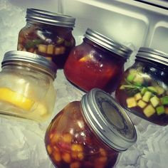 Tailgate Mason Jar Cocktails - just mix, throw in a cooler and take to the game!  By Blue Plate Catering in Chicago