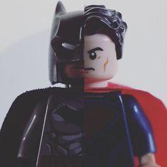 Day vs. Night #lego365 #lego #lego_365 #legodc #legobatman #legosuperman #legobatmanvsuperman #legostagram #legography #legogram #brickcentral #bricknetwork #batman #superman #brucewayne #clarkkent  #batmanvsupermandawnofjustice #toyphotography by lego_365