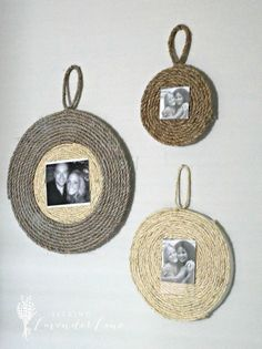 Sisal Rope Picture Frame - How to Get Rustic Chic Decor Using Styrofoam And A Rope Twine Crafts, Rope Crafts, Diy And Crafts, Rustic Crafts, Rope Frame, Diy Frame, Cadre Photo Original, Rustic Chic Decor, Deco Originale