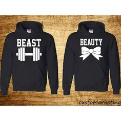 Couple Hoodie Beauty and Beast Perfect Couple Sweatshirts Beauty and... ($40) ❤ liked on Polyvore featuring tops, hoodies, sweatshirts, dark olive, women's clothing, sweatshirts hoodies, sweat tops, pullover hooded sweatshirt, hoodie sweatshirts and hooded sweatshirt                                                                                                                                                     More