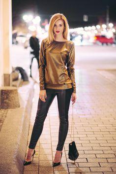 Kolekcja Świąteczno-Karnawałowa 2015 Carnival 2015, Christmas Carnival, Leather Pants, Collection, Street, Fashion, Leather Jogger Pants, Moda, Fashion Styles