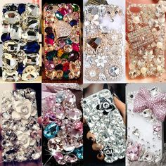 phone accessories Crystal Diamonds Rhinestone Phone Case For iPhone Mobile Phone Shops, Mobile Phone Repair, Bling Phone Cases, Iphone Cases, Iphone Phone, Phone Logo, Diy Case, Diy Phone Case, Crystals