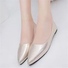 US $11.99 Women's Boat Shoes Shiny Ballet Flats Slip On Loafers Moccasins Women Dance Champagne