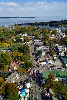 This aerial photo of the Urbanna Oyster Festival was taken during the afternoon parade on Saturday.
