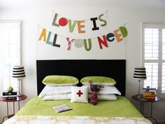 this would look cute in our house above our big couch... maybe say something different