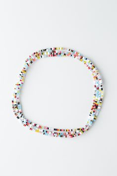 """Every Rafiki Friend Chain is made with Czech glass beads in an array of vibrant, eye-catching colours and has enough stretch to be looped into a bracelet, anklet, headband or necklace, offering fresh, fun ways to accessorize any outfit—wear it your way! Named after the Swahili word for friend, this """"rafiki"""" chain is a colourful way to celebrate friends new and old. Cast off the winter chill with a bouquet of bright, playful colours from our spring line of Rafiki Friend Chains in ... Cast Off, It Cast, Spring Line, Words With Friends, Czech Glass Beads, Anklet, Turquoise Bracelet, Beaded Bracelets, Shop My"""