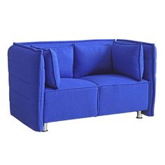 Fine Mod Imports FMI10186-blue Sofata Loveseat, Blue