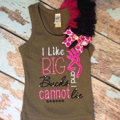 I like big BUCKS and I cannot lie...#bigbucks #ilikebigbowsandicannotlie #childrensboutique #babyboutique #huntergirls #bigbuckhunter