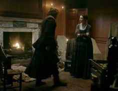 """Episode 212 """"The Hail Mary"""" of Outlander Season Two on Starz outlander-online.... with Sam Heughan as Jamie Fraser and Caitriona Balfe as Claire Fraser"""
