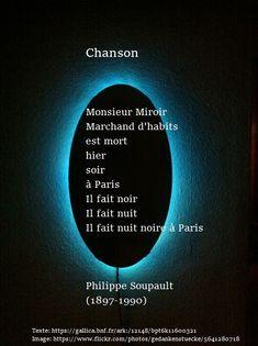 Philippe Soupault | À la française … Philippe Soupault, Texte En Prose, France, Poems, Movie Posters, Thinking Quotes, Dark Night, Texts, Poetry