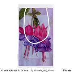 Purple and pink fuchsia flower small gift bag  sc 1 st  Pinterest & Pink and purple fuschia flower paper plates | Flower paper and Flower