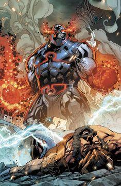 Darkseid defeats Zeus