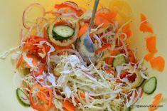 Salata de muraturi reteta de ciolomada ungureasca | Savori Urbane Charcuterie, Cookie Recipes, Spaghetti, Cooking, Health, Ethnic Recipes, Foods, Canning, Salads
