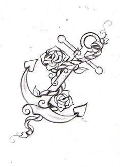 anker, tattoo, ontwerp