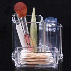 2015 Wholesale New Clear Makeup Cosmetic Storage Case Organizer Lipstick  Acrylic Brush Display Holder Stand Classic Luxury Case
