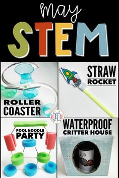 Four LOW PREP End of the Year/Summer STEM Challenges | Elementary Summer STEM Activities