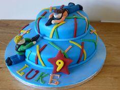 Laser tag birthday cake.