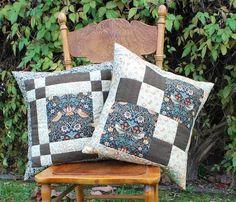 Strawberry Thief Pillow Set via Craftsy