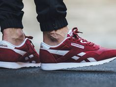 pretty nice d863d be85a Laid in suede, nylon and leather, the latest edition of the Reebok Classic  Nylon in a dark seasonal shade, triathlon red. The kicks are currently  ready to