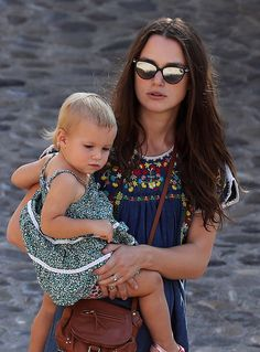 Keira Knightley and her daughter Edie.