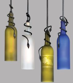 DIY Recycled Wine Bottle Lights