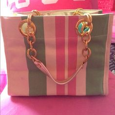 Super cute canvas juicy couture tote Heavy duty super chic medium tote with lots of inside pocket. Juicy Couture Bags Totes