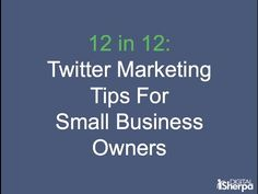 12 Twitter Marketing Tips for Small Business Owners & Marketers - http://insideminnesotatoday.com/12-twitter-marketing-tips-for-small-business-owners-marketers/