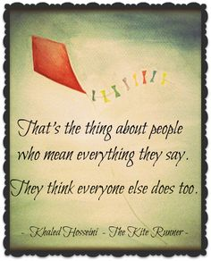 What are some good quotes about Hassan from the Kite Runner?