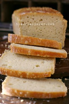 Paleo Grain Free Sourdough Bread Loaf (gluten/grain/dairy/starch/sugar free) == The Urban Poser Paleo Bread, Paleo Baking, Low Carb Bread, Gluten Free Baking, Gluten Free Sourdough Bread, Paleo Dairy, Gluten Free Grains, Foods With Gluten, Sans Gluten