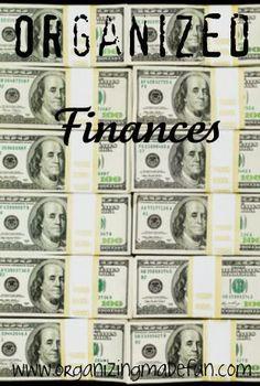 Organize your finances!
