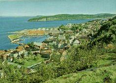 Vestfold fylke Holmestrand utsikt over byen Utg Mittet 1980-tallet