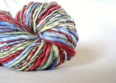 Handspun Superwash Merino Yarn Hand Dyed by TailsandSnouts on Etsy