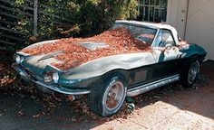 """Corvette - the owner shouldn't be allowed to have one if this is how he """"cares"""" for his vette! :)"""