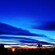 Aqui no interior, até a noite o céu é interessante! 21:15h 👏 ❤