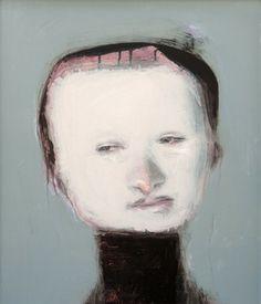 "Saatchi Online Artist Miroir Noir; Collage, ""Handicaped Series: Big Forehead  // SOLD"" #art"