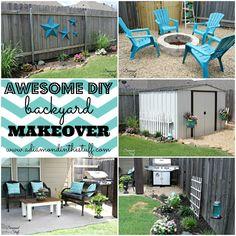 Awesome DIY Backyard Makeover.....Lovely shed makeover