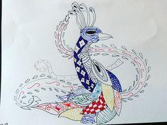 Zentangle peacock by Nika0625.deviantart.com on @DeviantArt