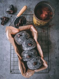 Black Charcoal Doughnuts