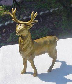 Vintage  Stag Deer Cast Iron Bank