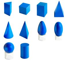 Geometric Solids With Stands  from Montessori Outlet $43.95