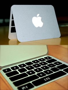 clever and cute card. for the technology-obsessed ... I need to make this for our IT guy :)