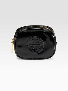 c101914488 Tory Burch black patent cosmetic bag Make Makeup, Saks Fifth Avenue, Cosmetic  Bag,