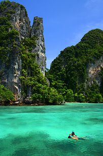 Krabi Thailand. Can't believe I snorkelled here! Stunning place.