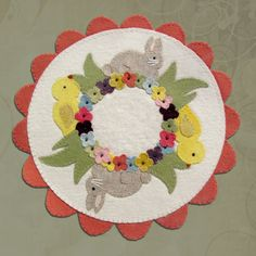 PATTERN Spring In Bloom Wool Applique' Candle by betsyloupatterns, $10.00
