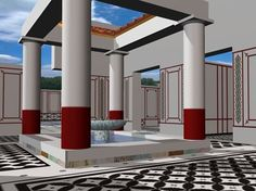 A virtual visit to the roman villa Torre Llauder- This is an amazing site that gives a virtual tour of a Roman villa