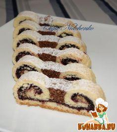 "Хорватское печенье ""Дедушкины усы"" Delicious Cake Recipes, Yummy Cakes, Sweet Recipes, Hungarian Cake, Eastern European Recipes, No Sugar Diet, Sweet Cookies, Pie Cake, Russian Recipes"