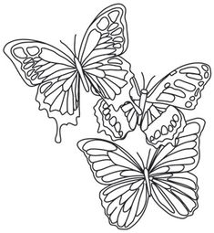 Painted Butterflies design (UTH7454) from UrbanThreads.com