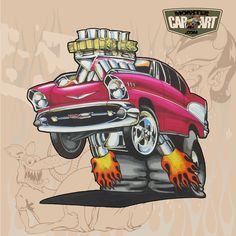 Cool Car Drawings, Cartoon Drawings, Cartoon Art, Weird Cars, Cool Cars, Ed Roth Art, Monster Car, Cars Coloring Pages, Rat Fink